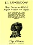 Eloge funèbre du Général August-Wilhelm von Lignitz