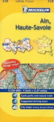 Michelin Map France: Ain, Haute-savoie 328