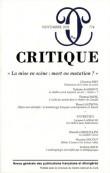 Critique, N° 774, Novembre 201 : La mise en scènes : mort ou mutation ?